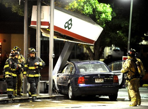 Gas pump fire